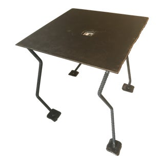 Modern Industrial Chic Side Table For Sale