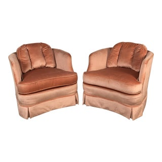 Heritage Vintage Velvet Chairs - A Pair