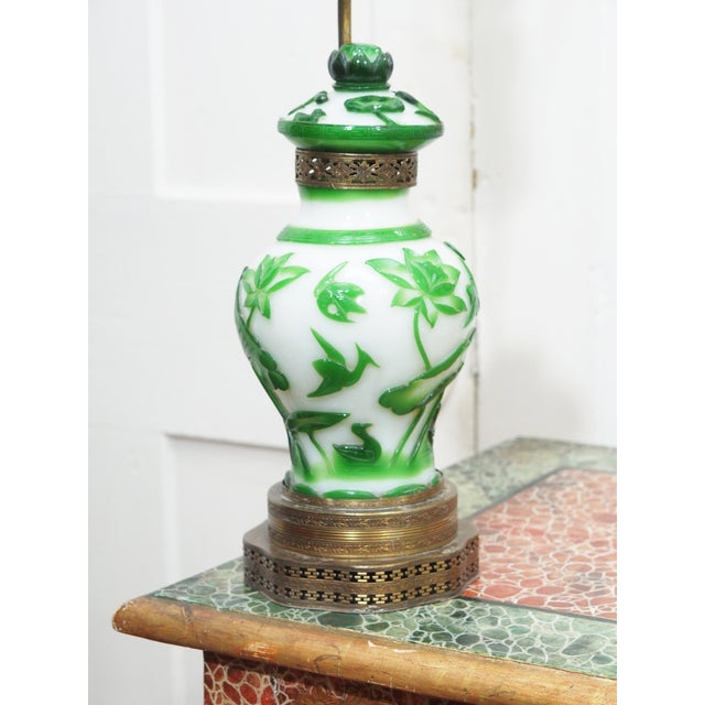 19TH CENTURY PEKING GLASS VASES AS LAMPS - Image 2 of 7
