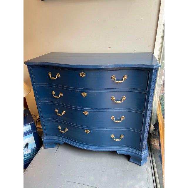 Heritage Furniture Blue Dresser For Sale - Image 11 of 11