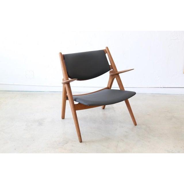 Hans J. Wegner Danish Modern Sawbuck Chair Ch28 For Sale - Image 9 of 9