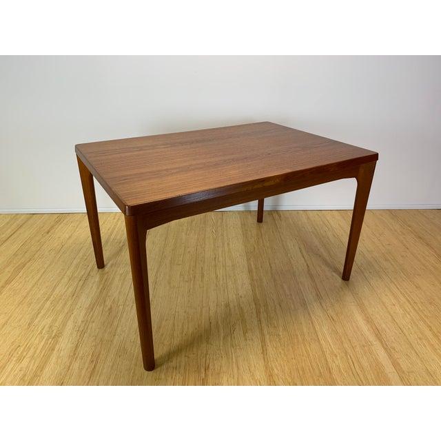 Danish Modern 1960s Danish Modern Henning Kaerjnulf for Vejle Stole + Møbelfabrik Teak Dining Table For Sale - Image 3 of 11