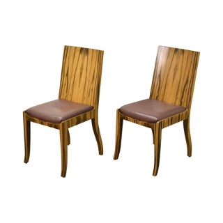 Interior Crafts Mid-Century Modern Rosewood Side Chairs - a Pair For Sale