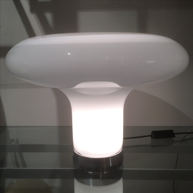 White Italian Lareico Mushroom Lamp For Sale - Image 8 of 8