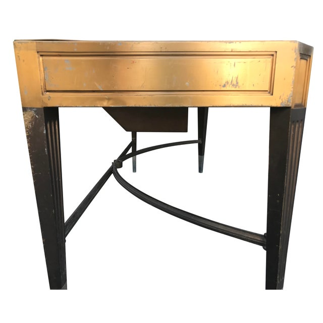 Art Deco Gorgeous Vintage Banker's Desk For Sale - Image 3 of 11