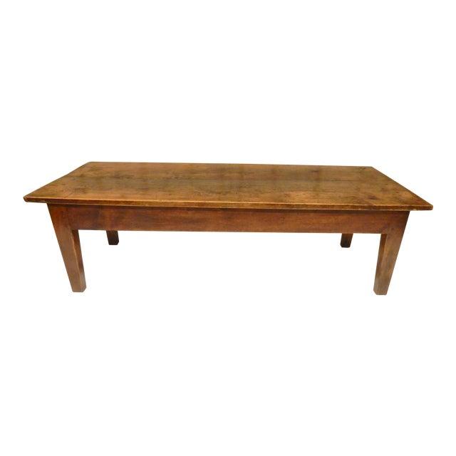 19th C. French Walnut Farm/Coffee Table For Sale