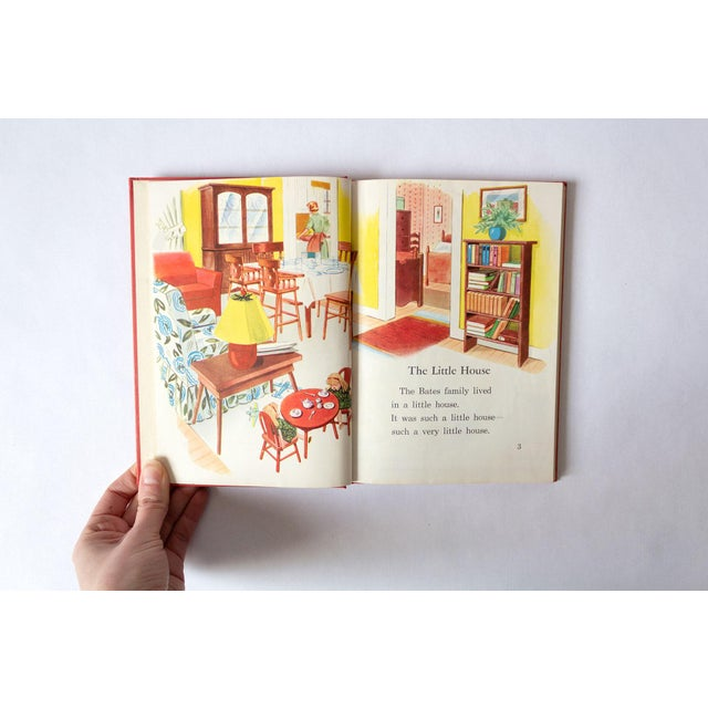A beautifully illustrated children's school book from 1950. Bold vintage red cover.