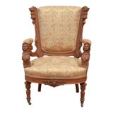 Image of Late 19th Century Antique Victorian Statement Chair For Sale