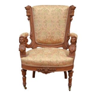 Late 19th Century Antique Victorian Statement Chair For Sale