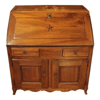 Early 18th Century Country French Walnut Fall-Front Desk For Sale