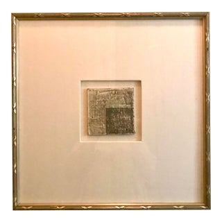 Small Matted Painting #5 With Silver Leaf Frame by Allen Kerr For Sale