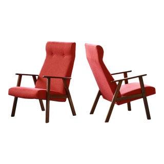 Danish Arne Vodder StyleMid-Century Easy Chairs in Teak - a Pair For Sale