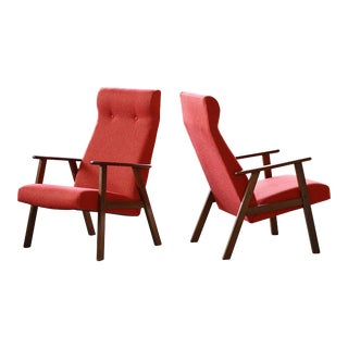 Pair of Danish Arne Vodder Style Midcentury Easy Chairs in Teak For Sale