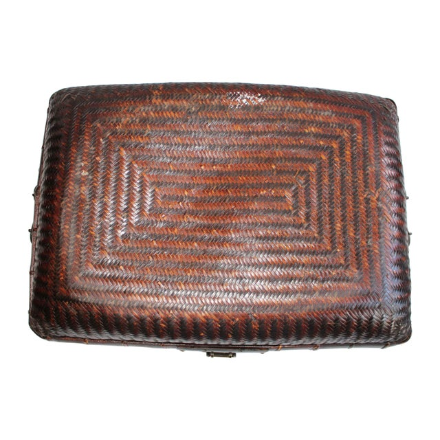 Antique Chinese Woven Trunk For Sale In Los Angeles - Image 6 of 6