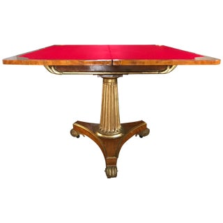 Neoclassical Card Table For Sale