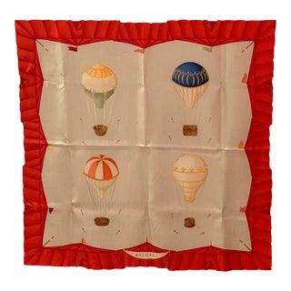 Vintage Bulgari Hot Air Balloon Silk Scarf For Sale