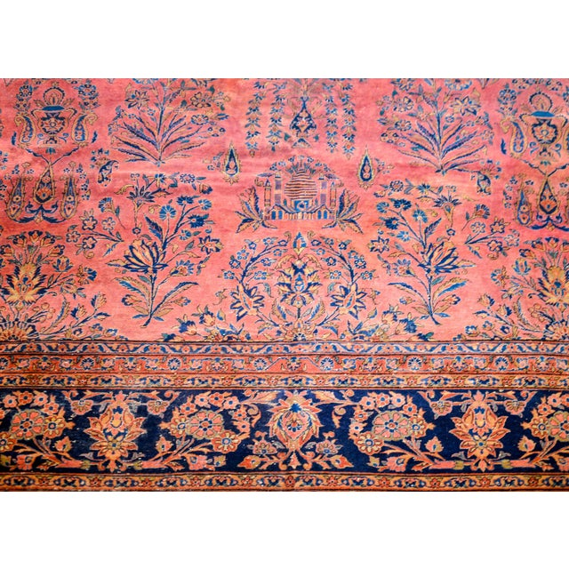 Early 20th Century 1920 Persian Kashan Rug For Sale - Image 5 of 9