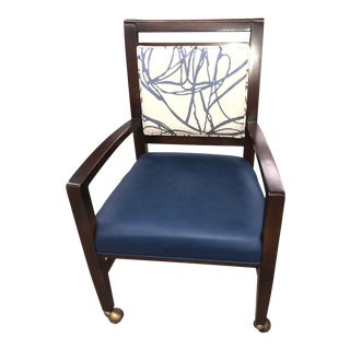 Traditional Fairfield Preston Navy Blue Occasional Chair For Sale