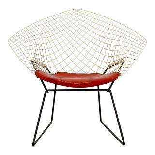 Mid Century Modern Original Knoll Bertoia Diamond Lounge Chair For Sale