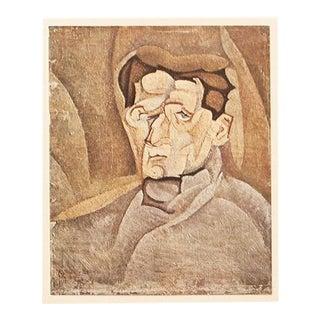 1947 Juan Gris Portrait of Maurice Raynal Original Parisian Lithograph For Sale