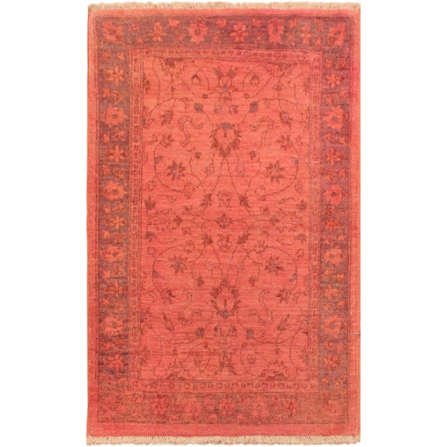 Overdyed Color Reform Cris Pink/Blue Area Rug - 2'10 X 4'0 - Image 8 of 8