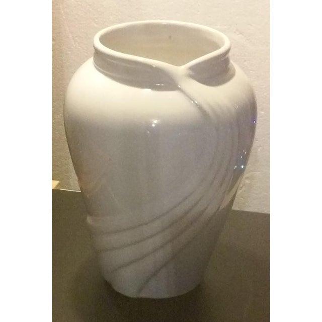 Vintage White Porcelain Vase - Image 5 of 5