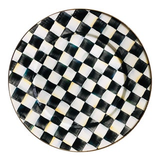 MacKenzie Childs Courtly Check Enamel Serving Platter For Sale