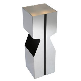 NEAL SMALL ILLUMINATED PEDESTAL WITH MAGAZINE STORAGE, CIRCA 1970S