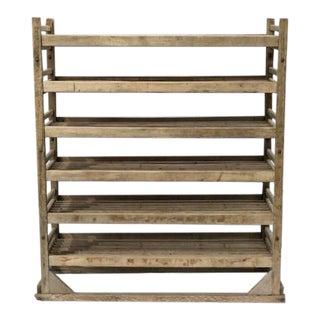 1920s Wooden Industrial Bakers Rack For Sale