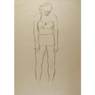 1950's Line Drawing Figure Study For Sale