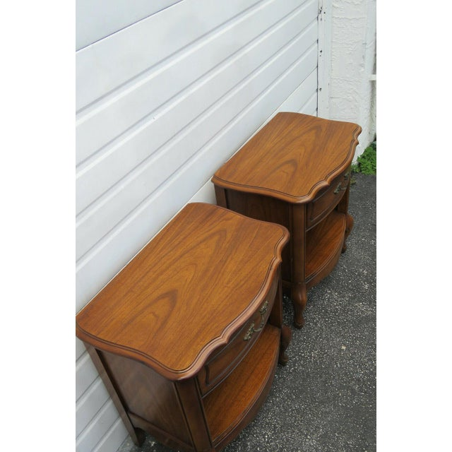 1950s French Cherry Nightstands Side End Tables - a Pair For Sale - Image 5 of 13