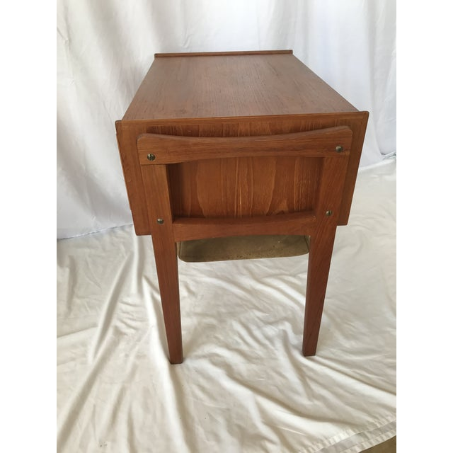 Vintage Danish Sewing Side Table For Sale - Image 9 of 13