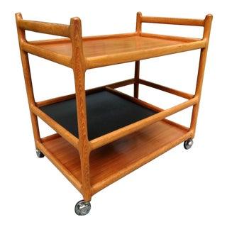 Johannes Andersen Teak Bar Cart Denmark For Sale