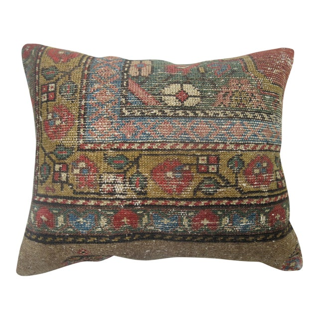 Antique Persian Serab Rug Pillow For Sale