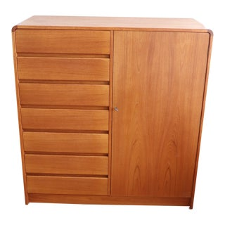 Danish Modern Teak Highboy For Sale