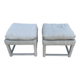 Milo Baughman Parsons Style Ottomans - a Pair For Sale