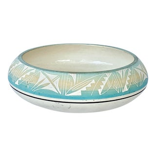 Vintage Hand Made Native American Bowl For Sale