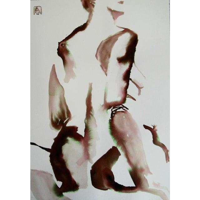 'Natural Woman' Watercolor - Image 1 of 3