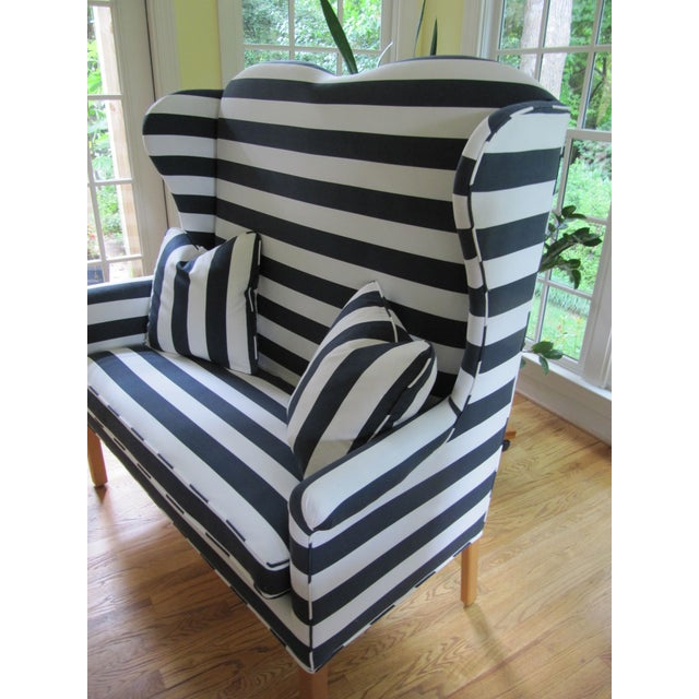 Rehabbed North Hickory Settee and Matching Chair For Sale - Image 7 of 8