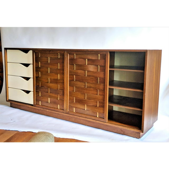 Harvey Probber Woven Front Credenza Sideboard - Image 2 of 10