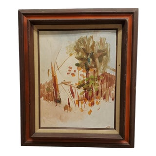 """1980s """"Dream Landscape"""" Abstract Oil Painting by Lori a Lata, Framed For Sale"""