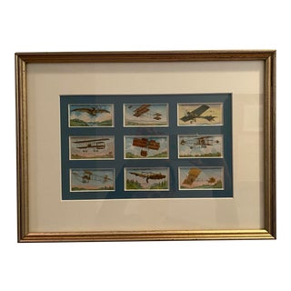 Framed Collection of Antique Cigarette Cards For Sale