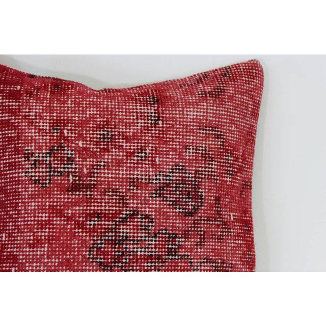 Red Handmade Overdyed Pillow Covers - Pair - Image 3 of 4