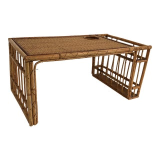 1960s Boho Chic Bamboo Bed Tray For Sale