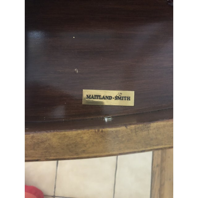 Maitland-Smith Georgian Style Leather Covered Chest For Sale - Image 10 of 13