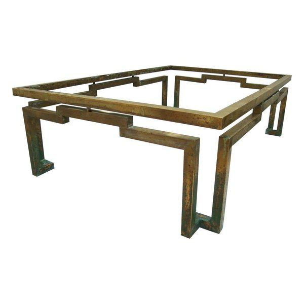 Arturo Pani Rectangular Coffee Table in Brass - Image 2 of 5