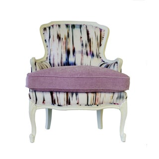 """French Bergere Upholstered """"Purple Rain"""" Armchair Preview"""