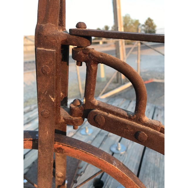 Early 1900s Antique Industrial Cast Iron Tricycle For Sale - Image 11 of 13