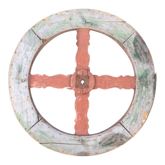 Vintage French Wagon Wheel - Image 1 of 5