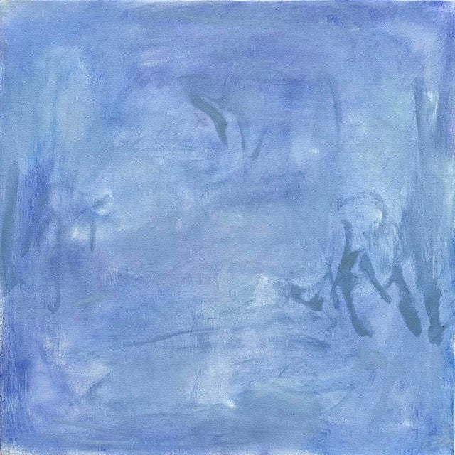 """""""Blue Zen"""" by Trixie Pitts Abstract Oil Painting For Sale - Image 13 of 13"""